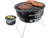 Yellowstone Folding BBQ with Cooler Bag Festival/Beach/Garden/Camping **NEW**