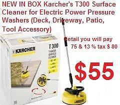 NEW IN BOX Karcher's T300 urface Cleaner for Electric Power Pressure Washers (Deck, Driveway, Patio, Tool Accessory)