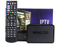 MAG BOX HD 250/254/ WITH 12 MONTH GIFT SD CABLE BOX VM OPNBOX SKYBOX