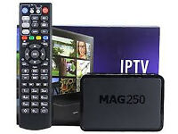 MAG BOX 250 WD 12 MONTH GIFT HD SKYBOX CABLE BOX AMIKO COMBO VM