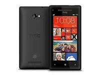 HTC 8X,WINDOWS PHONE,BLACK,3G,16GB,FACTORY UNLOCK ANY NETWORK,WIFI,NFC,DUAL CAMERA WITH FLASH