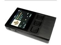 ibasso dx50 digital audio player with tuff luv leather case .