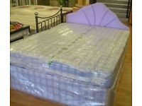 Brand New Great Value Double bed set in Blue FREE delivery Factory Sealed