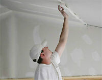 new drywall installation and taping / installation gypse