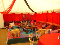 Marquee hire in London - ideal for home parties & pre wedding parties & Self hire Decor