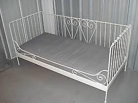 IKEA metal white heart day bed
