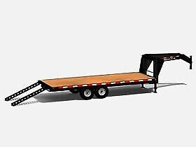 2020 Canada Trailers Straight Deck Gooseneck Deckover 21,000 lbs