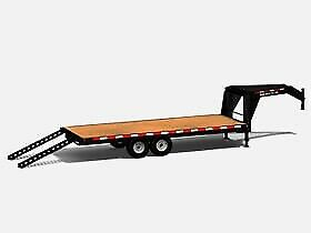 2020 Canada Trailers Straight Deck Gooseneck Deckover 24,000 lbs