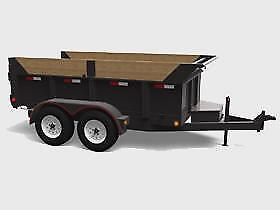 Ontario Made! Brand New Heavy Duty Dump Trailer 65x12 - High Quality, Solid, Steel Trailer! Made in Canada!