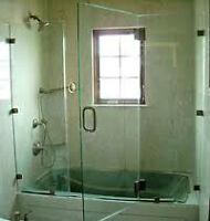 Porte de Bain ou douche, en verre/ Glass Bathtub or shower doors