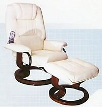 NAPOLI SWIVEL RECLINER CHAIR AND FOOTSTOOL WITH HEAT AND MASSAGE