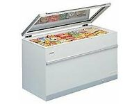 ELCOLD COMMERCIAL HINGED GLASS LID LARGE CHEST FREEZER-NEW EX DISPLAY