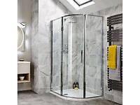 Bathstore 1200 x 900 quadrant shower enclosure and tray