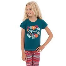TEAL BLUE   Size: 3-4 yrs Flora Halo T-Shirt Animal BNWT