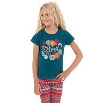 TEAL BLUE  Size: 3-4 yrs Flora Halo T-Shirt Animal BNWT