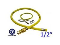 "Cater flex / hose - 1/2"" 1 metre yellow gas pipe"