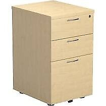 FILING CABINET 3 drawers (2 large + 1 small) Wood effect- Used but excellent condition