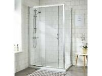 SLIDING SHOWER SCREEN GLASS DOOR. NEW! FITS 1200mm (also adjusts 1160mm - 1190mm)