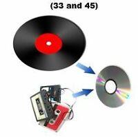 Transfer audio tape cassettes and LPs to CD  - $8.00