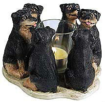 Circle of Rottweilers, Rottie candleholder, Rottweiler votive