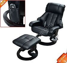 Brand new massaging easy chair and footstool