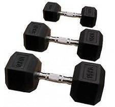 Pair of 22.5kg Rubber Hex Dumbbells Bankstown Bankstown Area Preview