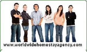 Private or shared Homestay required for Intl esl student