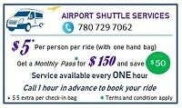 Airport Shuttle Service just for $5.
