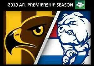 CHEAP PRICE FOR 2 AFL Tickets HAWTHORN v BULLDOGS MCG RESERVED L2