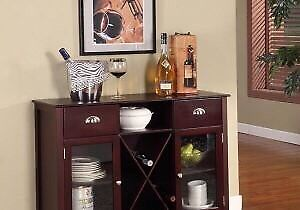 NEW IN BOX King Design Buffet/Sideboard with Wine Rack