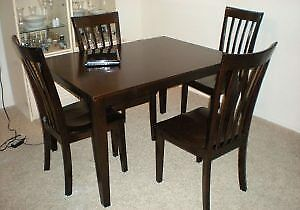 High Counter Height Dining Table With 3 High Chairs