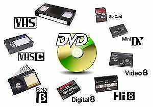 *Video and Audio Transfers* - VHS/VHS-C/8mm/MiniDV/Beta to DVD! Kitchener / Waterloo Kitchener Area image 1