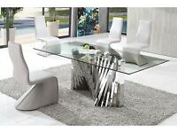 Glass Dining Table - New Dining Table Un-Used Fully Boxed and Packaged
