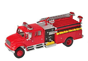 FIRE ENGINE International 4900 Emergency TRUCK HO 1/87 scale DieCast Scenemaster