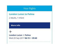 Ticket flights Luton-Palma
