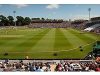 4 England v Australia ODI tickets for Saturday 16th June. Castell Howell stand row J