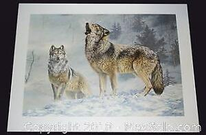 """Jorge Mayol """"Solo Singer - Gray Wolves"""" limited edition print, s/n"""