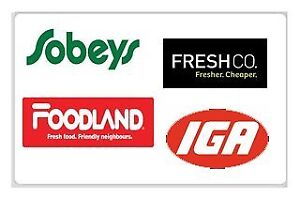 $100 FreshCo, Sobeys and Foodland Gift card For $95