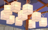square paper lanterns for lamp shade