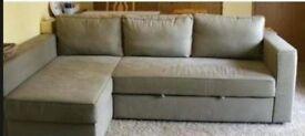 IKEA Manstad corner sofa bed with storage
