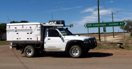 2010 Nissan Patrol coupled with a 2012 Travelander