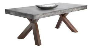 ON SALE Concrete Edge Dining Table Special Discounted Price for Floor Model
