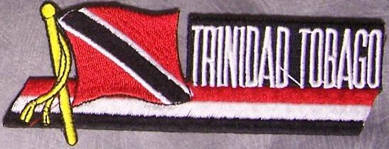 Embroidered International Patch National Flag of Trinidad & Tobago NEW streamer