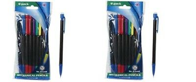 Mechanical Lead Pencils Lot 20 2 Packs Refillable .7mm Mixed Colors Office New