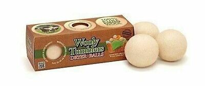 3 Wooly Tumblers Dryer Balls - 100% Pure New Zealand Wool