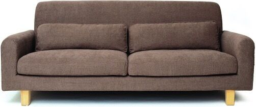 Ikea Nikkala Sofa 3 Seater In Great Condition Brown With Cushions 20