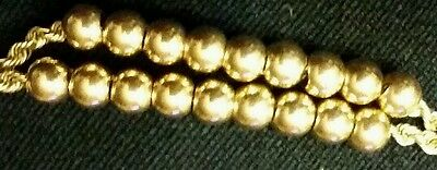 14K YELLOW GOLD SPACER BEADS FOR SLIDE BRACELET-4mm -12 beads in 1 set