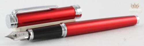 Sailor Barcarolle Red With Rhodium Trim Fountain Pen 14 K Gold Nib Superb Design