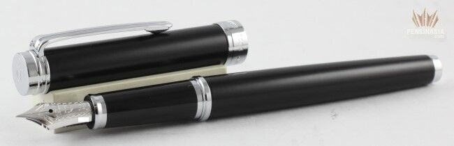 Sailor Barcarolle Black With Rhodium Trim Fountain Pen 14 K Gold Nib Magnificent
