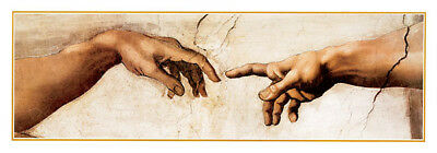 The Creation of Adam  Michelangelo Art Print Poster